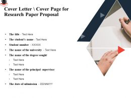 Cover Letter Cover Page For Research Paper Proposal Degree Sought Ppt Presentation Templates