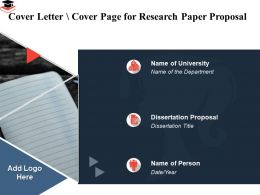 Cover Letter Cover Page For Research Paper Proposal Dissertation Ppt Powerpoint Graphics