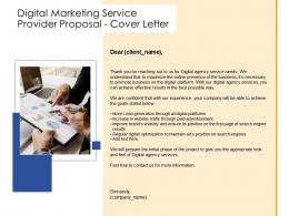 Cover Letter Digital Marketing Service Provider Proposal Ppt Powerpoint Presentation Icon Visual
