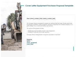 Cover Letter Equipment Purchase Proposal Template Ppt Powerpoint Design