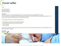 Cover Letter Financial Portfolio Ppt Powerpoint Presentation File Deck