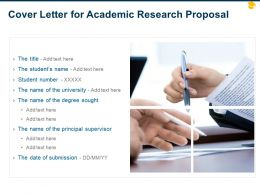 Cover Letter For Academic Research Proposal Ppt Powerpoint Presentation Show