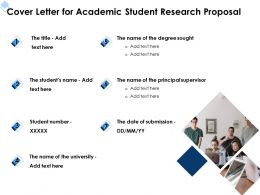 Cover Letter For Academic Student Research Proposal Ppt Powerpoint Infographic