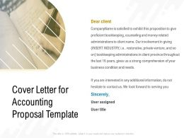 Cover Letter For Accounting Proposal Template Ppt Powerpoint Presentation Slides Deck
