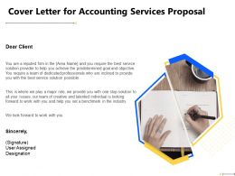 Cover Letter For Accounting Services Proposal Designation Ppt Powerpoint Presentation File