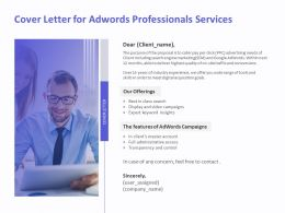 Cover Letter For AdWords Professionals Services Ppt Infographics