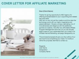 Cover Letter For Affiliate Marketing Ppt Powerpoint Presentation Ideas Graphic