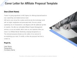 Cover Letter For Affiliate Proposal Template Ppt Powerpoint Presentation Slides