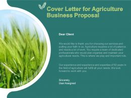 Cover Letter For Agriculture Business Proposal Ppt Powerpoint Presentation Styles File