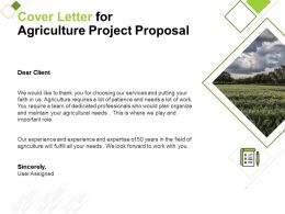 Cover Letter For Agriculture Project Proposal Ppt Powerpoint Presentation Icon