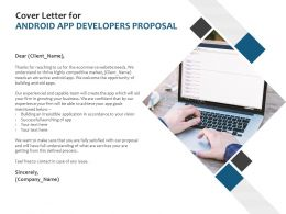 Cover Letter For Android App Developers Proposal Ppt Templates