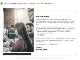 Cover Letter For Android App Development Proposal Ppt Powerpoint Presentation File