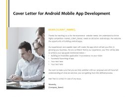 Cover Letter For Android Mobile App Development Communication Ppt Powerpoint Presentation Ideas