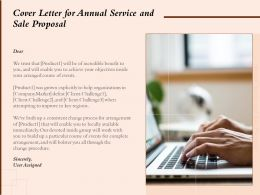 Cover Letter For Annual Service And Sale Proposal Ppt Powerpoint Presentation Layouts