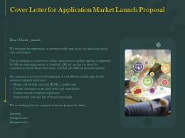 Cover Letter For Application Market Launch Proposal Ppt Powerpoint Information