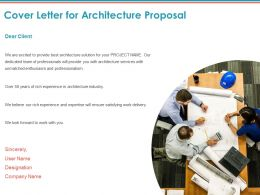 Cover Letter For Architecture Proposal Ppt Powerpoint Presentation Ideas Topics