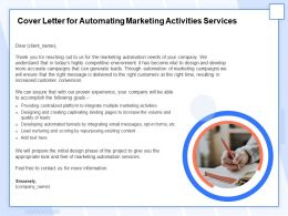 Cover Letter For Automating Marketing Activities Services Ppt Example File