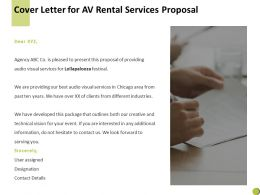 Cover Letter For Av Rental Services Proposal C903 Ppt Powerpoint Presentation Summary Shapes