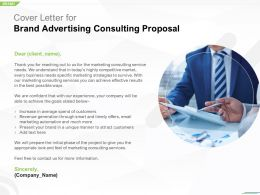 Cover Letter For Brand Advertising Consulting Proposal Ppt Powerpoint Guide