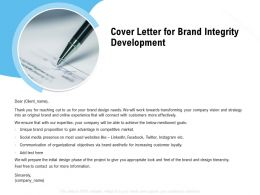 Cover Letter For Brand Integrity Development Ppt Powerpoint Presentation Backgrounds
