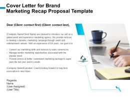 Cover Letter For Brand Marketing Recap Proposal Template Ppt File Aids