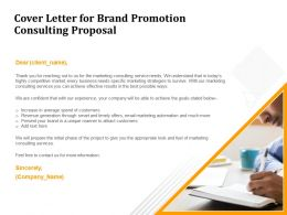 Cover Letter For Brand Promotion Consulting Proposal Ppt Powerpoint Presentation Ideas Clipart