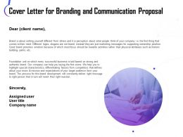 Cover Letter For Branding And Communication Proposal Ppt Icon Example