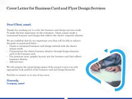 Cover Letter For Business Card And Flyer Design Services Ppt File Brochure