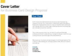 Cover Letter For Business Card Design Proposal L494 Ppt Powerpoint Presentation Icon