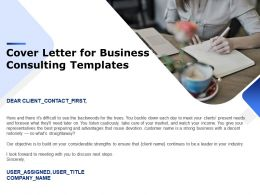 Cover Letter For Business Consulting Templates Ppt Powerpoint Presentation Styles