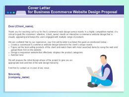 Cover Letter For Business Ecommerce Website Design Proposal Ppt File Aids