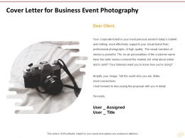 Cover Letter For Business Event Photography Ppt Powerpoint Presentation Icon Graphic
