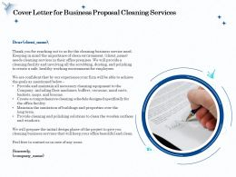 Cover Letter For Business Proposal Cleaning Services Ppt Icon