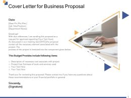 Cover Letter For Business Proposal Ppt Powerpoint Presentation Inspiration