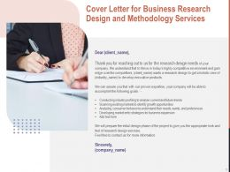Cover Letter For Business Research Design And Methodology Services Ppt Powerpoint Graphics