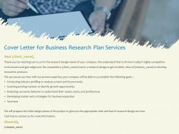 Cover Letter For Business Research Plan Services Analyse Current Ppt Powerpoint Presentation Images