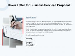 Cover Letter For Business Services Proposal Ppt Powerpoint Presentation Portfolio