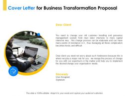 Cover Letter For Business Transformation Proposal Ppt Powerpoint Gallery
