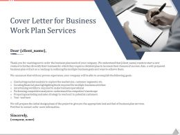 Cover Letter For Business Work Plan Services Ppt Powerpoint Presentation Image