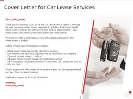 Cover Letter For Car Lease Services Ppt Powerpoint Presentation Backgrounds