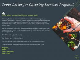 Cover Letter For Catering Services Proposal Ppt Powerpoint Presentation Ideas Styles