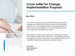 Cover Letter For Change Implementation Proposal Ppt Backgrounds