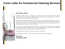 Cover Letter For Commercial Cleaning Services Ppt Powerpoint Presentation Icon Objects