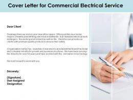 Cover Letter For Commercial Electrical Service Ppt Powerpoint Presentation File Show
