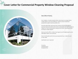 Cover Letter For Commercial Property Window Cleaning Proposal Ppt Powerpoint Presentation