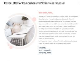 Cover Letter For Comprehensive PR Services Proposal Ppt Powerpoint Layouts