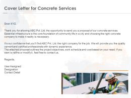Cover Letter For Concrete Services Ppt Powerpoint Presentation Professional Background Image