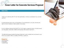 Cover Letter For Concrete Services Proposal Ppt Powerpoint Presentation Icon Graphics