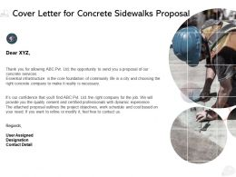 Cover Letter For Concrete Sidewalks Proposal Ppt Powerpoint Presentation Influencers