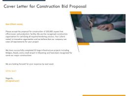 Cover Letter For Construction Bid Proposal Ppt Powerpoint Presentation Professional Picture